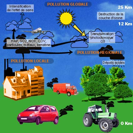 Causes de la pollution
